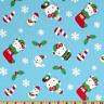 "OOP!! HELLO KITTY CHRISTMAS ON BLUE - BTFQ - 18""X22"""