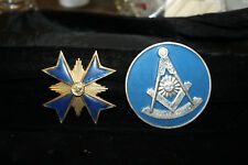 Masonic Badge Lot of 2 Car Emblem and Sash Pin