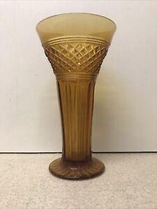 Lovely Vintage Amber Glass Vase