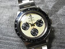 Alpha Daytona Paul Newman Black Insert 3-Registered Chronograph Watch