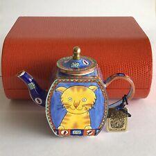 Charlotte Di Vita Miniature Collectors Teapot Marmalade - Cat. Boxed Excellent