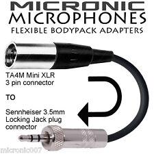 TA4F 4PIN MINI XLR SHURE MICROPHONE- SENNHEISER 3.5mm WIRELESS BODYPACK ADAPTER