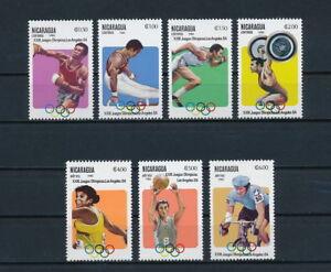 Nicaragua  1201-7 MNH, Olympic Games, 1983