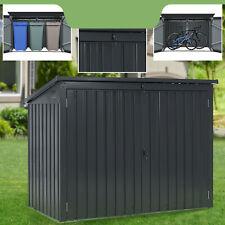 Mülltonnenbox Müllbox Mülltonnenverkleidung 3 Tonnen 1,9m² Metall 3er Juskys®
