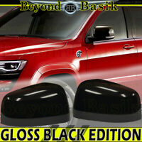 Mirror COVERS Overlays for 2011-2020 Jeep GRAND CHEROKEE DURANGO GLOSS BLACK