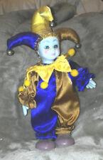 "9"" ceramic and cloth Jester"