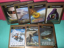 NATIONAL GEOGRAPHIC - 8 DVDS - LOS MEJORES DOCUMENTALES