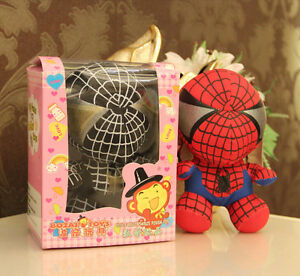 Spiderman Silver Eye 18cm Recording doll Cute Character plush Christmas Gift RED