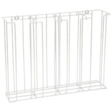 Hubert White 4 Compartment Steel Wire Lidamp Cup Dispenser Rack 20 12l X 5d X