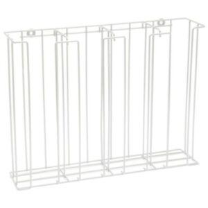 "HUBERT White 4-Compartment Steel Wire Lid& Cup Dispenser Rack - 20 1/2""L x 5""D x"