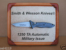 Smith & Wesson Knives 1250 TA Knife Framed Picture Display Vintage