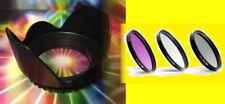 FILTER KIT+LENS HOOD 52mm to PENTAX 18-55mm,NIKKOR AF-S 18-55 55-200,CANON 35-80
