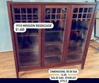 Antique Mission Arts and Crafts Oak Bookcase