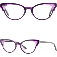 Purple Women's Plastic Frames Cute Vintage Cat Eye Eyeglass Prescription Glasses