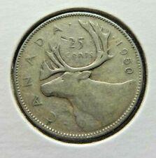 Canada  1950  25 Cents .800  Silver  Quarter