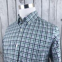 Duluth Trading Mens Long Sleeve Trim Fit Plaid Button Down Long Sleeve Shirt M