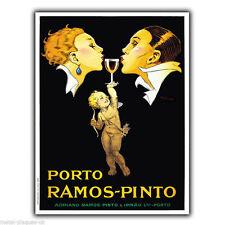 METALLSCHILD WANDTAFEL PORTO RAMOS PINTO Vintage Retro plakat Anzeige Küche