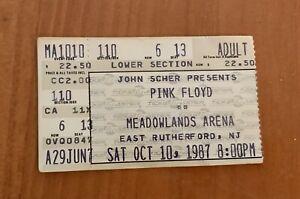 10/10/87 Pink Floyd - Concert Ticket Stub - Meadowlands Arena