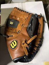 Wilson Elite A2477 13 Inch Softball Glove - Black/ Brown Right Hand Thrower