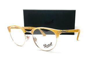 PERSOL PO8129V 1046 Light Horn Demo Lens Unisex Eyeglasses 50 mm