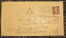 c1950s England cover to Mississippi Printed Paper Reduced Rate - postage due