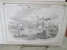 Vintage Print,STEAMER,Isaac Newton,Gleasons,1850s