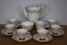Rare 1950s Gladstone 'Carnival' Bone China Coffee Set - Charming Wedding Present