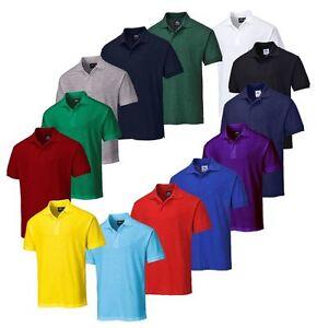 Portwest B210 Naples Polo Shirt Polycotton Work Wear - Various Colours