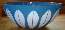 """Catherine Holm Catherineholm Norway Blue White Lotus Enamel Ware 9 1/2"""" Bowl"""