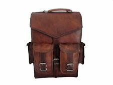 New Men's Leather Backpack Bag Rucksack Messenger Laptop Satchel Genuine Vintage