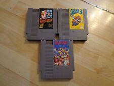 Super Mario Bros 1 3  DR Mario  set of 3 Nintendo Nes Lot