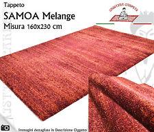 Tappeto Moderno SAMOA Melange 160x230 cm Polipropilene Rosso Melangiato