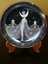 Art Deco  Royal Doulton Queen of the Night Plate from House of ERTE #HB 3650
