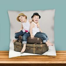 "Luxury Feel Personalised Photo Cushion 30x30 cm (12"") Pets/Children etc Pictures"