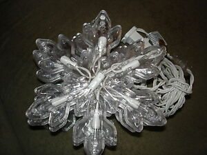 SNOWFLAKE STRING LIGHT 5 COUNT WITH 7 CLEAR LIGHTS IN EACH INDOOR/OUTDOOR