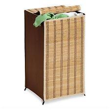 Laundry Clothes Wicker Hamper Storage Basket Sorter Organizer Bin Box with Lid