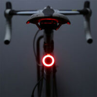 Bicycle Bike Rear Light LED Tail Lamp USB Rechargeable Warning Safety Waterproof