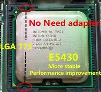 Intel Xeon E5430 2.66GHz/12M/1333 LGA775 2 Core Q9300 CPU Works On LGA775 Mother