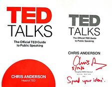 Chris Anderson~SIGNED/LINED/DATED~TED Talks~1st/1st+Photos!