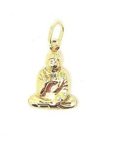 9ct Yellow Gold Sitting Buddha / Buddhist Virasana Pose Pendant / Charm