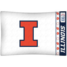 Illinois Fighting Illini Pillow Case NCAA Pillowcase Bedding