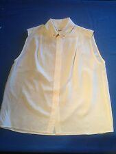 Chemisier en soie CHANEL couleur crème, collection 1989-90, Haute Couture