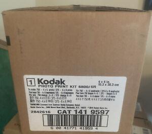 """Kodak Photo Print Kit 6800/6R CAT 141 9597-  750 4""""x6"""" OR 375 6""""x8"""" prints"""