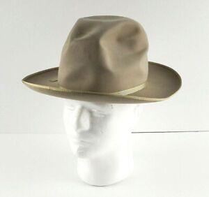 VTG Tan Royal Stetson Stratoliner Thin Ribbon Long Oval Hat Sz 7 SEE Condition