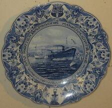 Vintage 'NV Rotterdam Kolen Centrale' Shipping Boat SCHOONHAVEN DELFT Charger