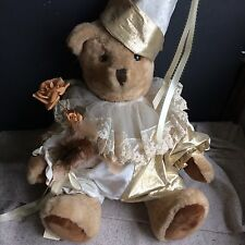 Unique, handmade Clown Bear  by artist Edith Winston