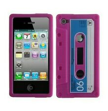 Silicone Case Case Cover IPHONE 4 4S Cassette K7 Rose Pink Tape Design