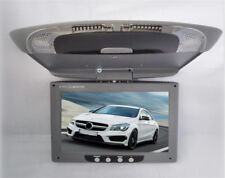9''Screen Flip Down Roof Mount Overhead TFT LCD Grey Car DVD Multimedia Monitor