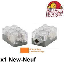 Lego - 1x Electric light brick brique lumineuse orange 2x3x1-1/3 54930c02 NEUF