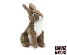 Living Nature Hare - An240 Plush Rabbit Soft Bunny Wild Cute Furry Brown Teddy
